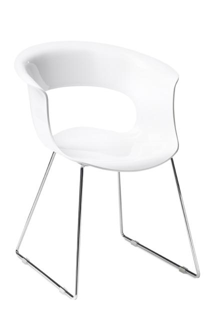 Дизайнерски стол бял