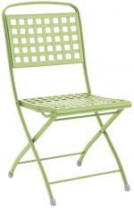 Метален стол сгъваем светло зелен
