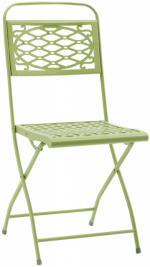 Светло зелен сгъваем метален стол