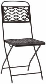 Сгъваем метален стол антрацит